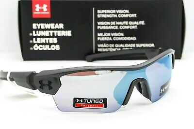 UNDER ARMOUR MENACE SUNGLASSES Satin Carbon / Baseball Tuned lens UA Youth (Under Armour Sunglasses For Kids)