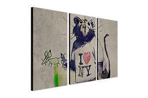 banksy pochoir peinture murale i love new york rat 3 pi ce. Black Bedroom Furniture Sets. Home Design Ideas