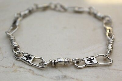 Cross Sterling Silver Mens Bracelets (ACTS Sterling Silver Fishers Of Men Bracelet with Maltese)