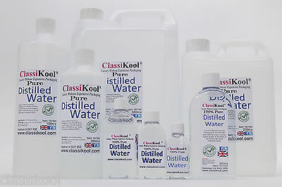 Classikool Pure Distilled Water - Deionized And Distilled: 8 Different Sizes