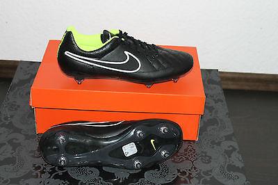 Nike Tiempo Rio Fußball Stollenschuh Schwarz Gelb Größe UK 7, US 8, EU 41 Neu (Schwarz Tiempo Stollen)