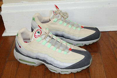 NIKE AIR MAX 95 QS HALLOWEEN SUMMIT WHITE MENTAL GREY DS SIZE 13  - Air Max 95 Halloween