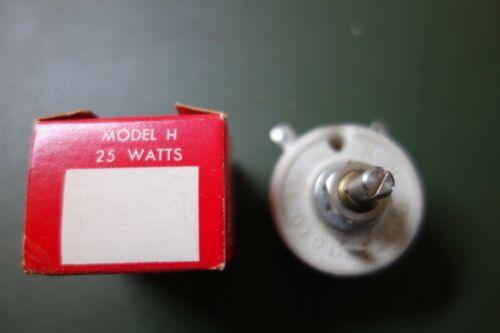 Vintage Ohmite Model H 2.5K 25 Watt Rheostat Variable Resistor NOS