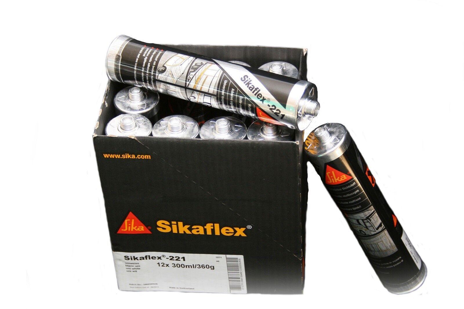 Sikaflex 221 1-K-PU Dichtstoff 300 ml 18,23€/L Dichtmasse Kleber Klebstoff Sika