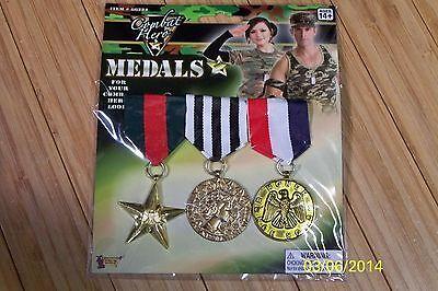 Militär Combat War Hero 3 Medaillen Kostüm Zubehör FM66224
