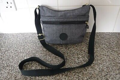"KIPLING CROSS BAG BLUE 8"" 10"""