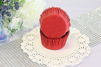 2'' Paper Cupcake Muffin Liners, Greaseproof, Baking Cups, Red, Standard