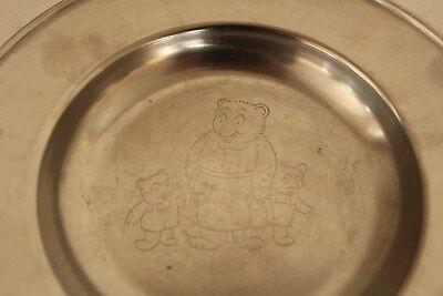 Lundtofte Stainless Children's Plate, Bear Family, Denmark