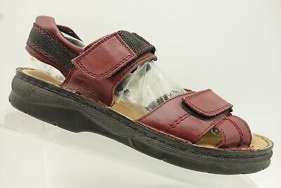 Rieker Red Leather Adjustable Strap Casual Sandals Women's 39 / 8 for sale  Fort Worth