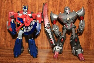 Transformers animated deluxe final battle OPTIMUS and MEGATRON  -  rare 240