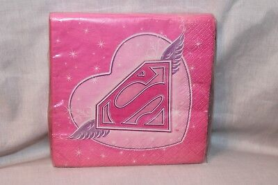 GIRL 16-LUNCH NAPKINS   PARTY SUPPLIES (Super Girl Party Supplies)