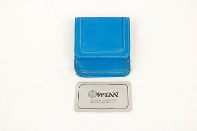New Women's Blue Cowhide Drum-Dyed Napa Leather Coin & Currency Wallet