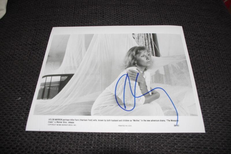 """HELEN MIRREN signed Autogramm auf 20x25 cm """"THE MOSQUITO COAST"""" Foto InPerson"""