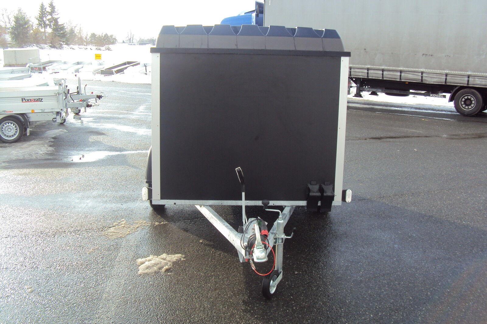 pkw motorrad anh nger vz 27 bo kofferanh mit niederfahrwerk u deckel 100 km h eur. Black Bedroom Furniture Sets. Home Design Ideas