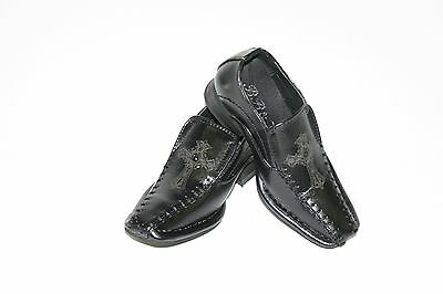 New Black  Toddler / Baby Boy Dress shoes Slip On Formal Shoes size 4 5 6 7 8 9