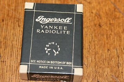 RARE BOX FOR A INGERSOLL YANKEE RADIOLITE DOLLAR POCKET WATCH