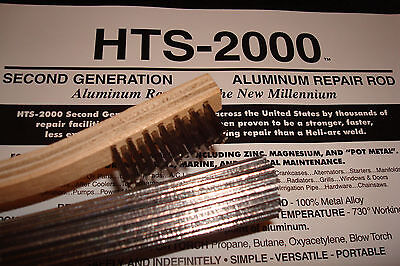 5 18 Aluminum Brazing Rods Hts- 2000 Low Temp With Instructions Metal Repair