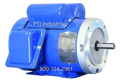 34 Hp Electric Motor 56c Single 1 Phase Tefc 115230 Volt 1800 Rpm F56c34s4c