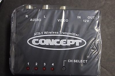 - 2.4GHz Wireless Audio Video AV Transmitter 4CH W/remote RV TRUCK CAR12v