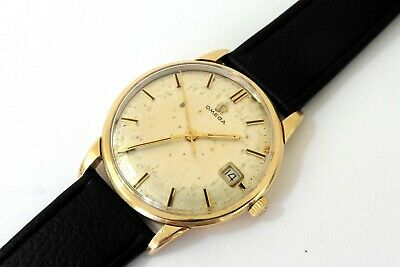 1963 GENTS 9K GOLD OMEGA 600 DATE IN GOOD ORIGINAL CONDITION