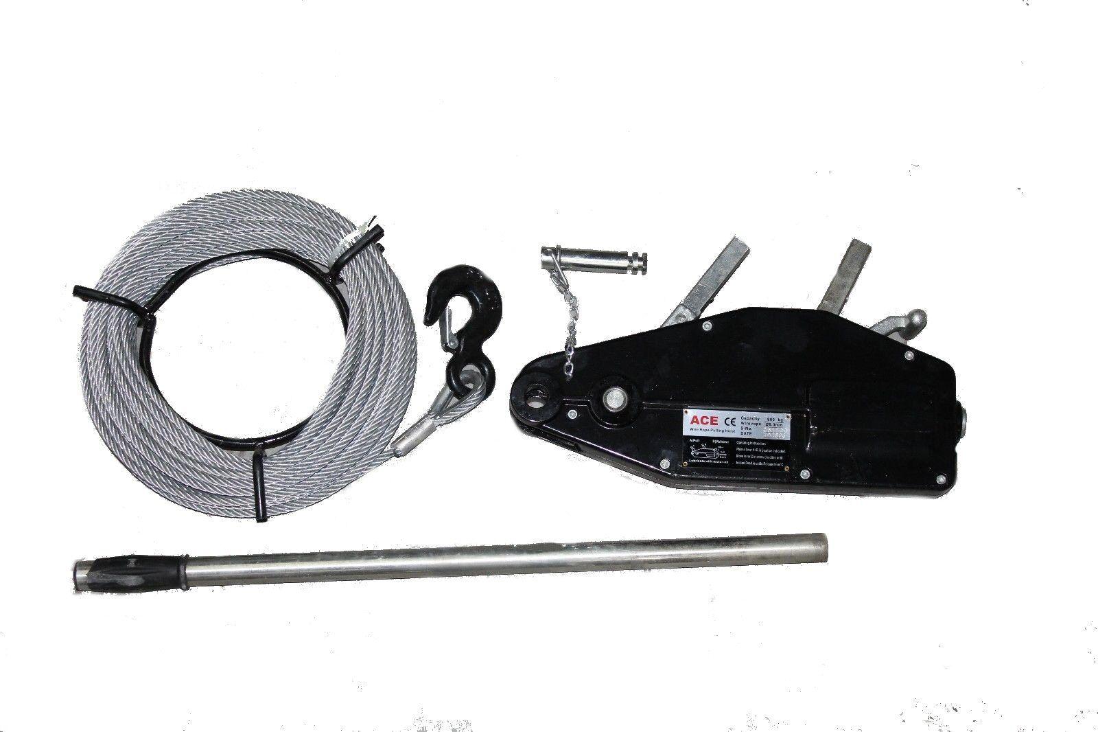3200kg Wire Rope Pulling Hoist/ Winch c/w 20M Wire Rope 700064751442 ...