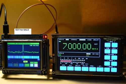 """HF Transceiver/Receiver Controller with  5"""" LCD Touch screen"""