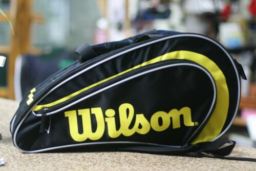 WILSON Racquetball RAK PAK Bag, Black Yellow color