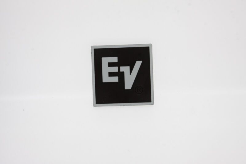 For Replacement EV Plastic Logo Badge 50mm Square - White Text