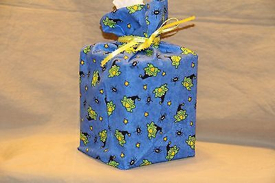 Halloween Frog witches hat 100% cotton fabric tissue box cover fabric gift bag - Halloween Tissue Box Cover