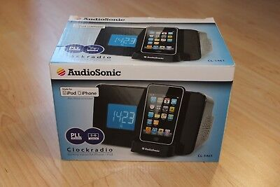 AudioSonic Radiowecker Wecker Aufladestation für iPod & IPhone 3G 3GS 4 4S ()