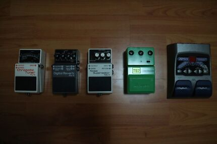 Multiple Guitar Pedals. BOSS IBANEZ DIGITECH. Baulkham Hills The Hills District Preview