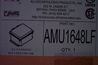 Amu1648lf Non-metallic Enclosure Allied Moulded Products