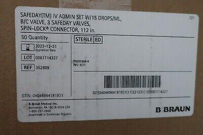 B. Braun Medical Iv Admin Set 15 Dropsml Box Of 50 Exp 2022-12-31 C56