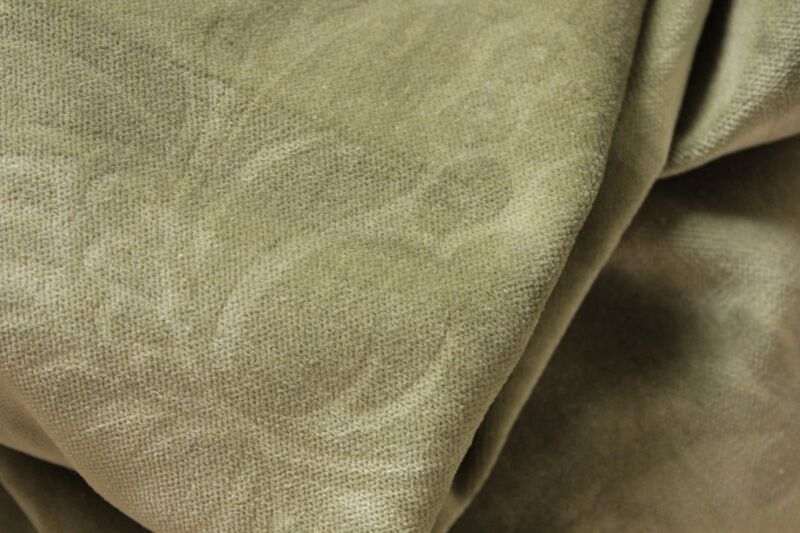 Fabric Crushed Green velvet Antique French Floral Patterned 1900 for CUTTING