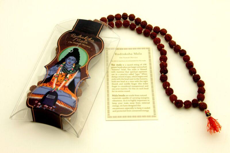 Prayer Mala Beads - Rudraksha - 108 Prayer Beads