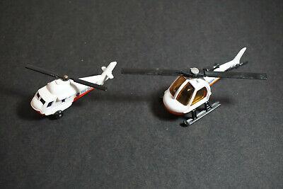 Vintage 1982 Matchbox MBTV Television News Helicopter & 1976 Seasprite #75