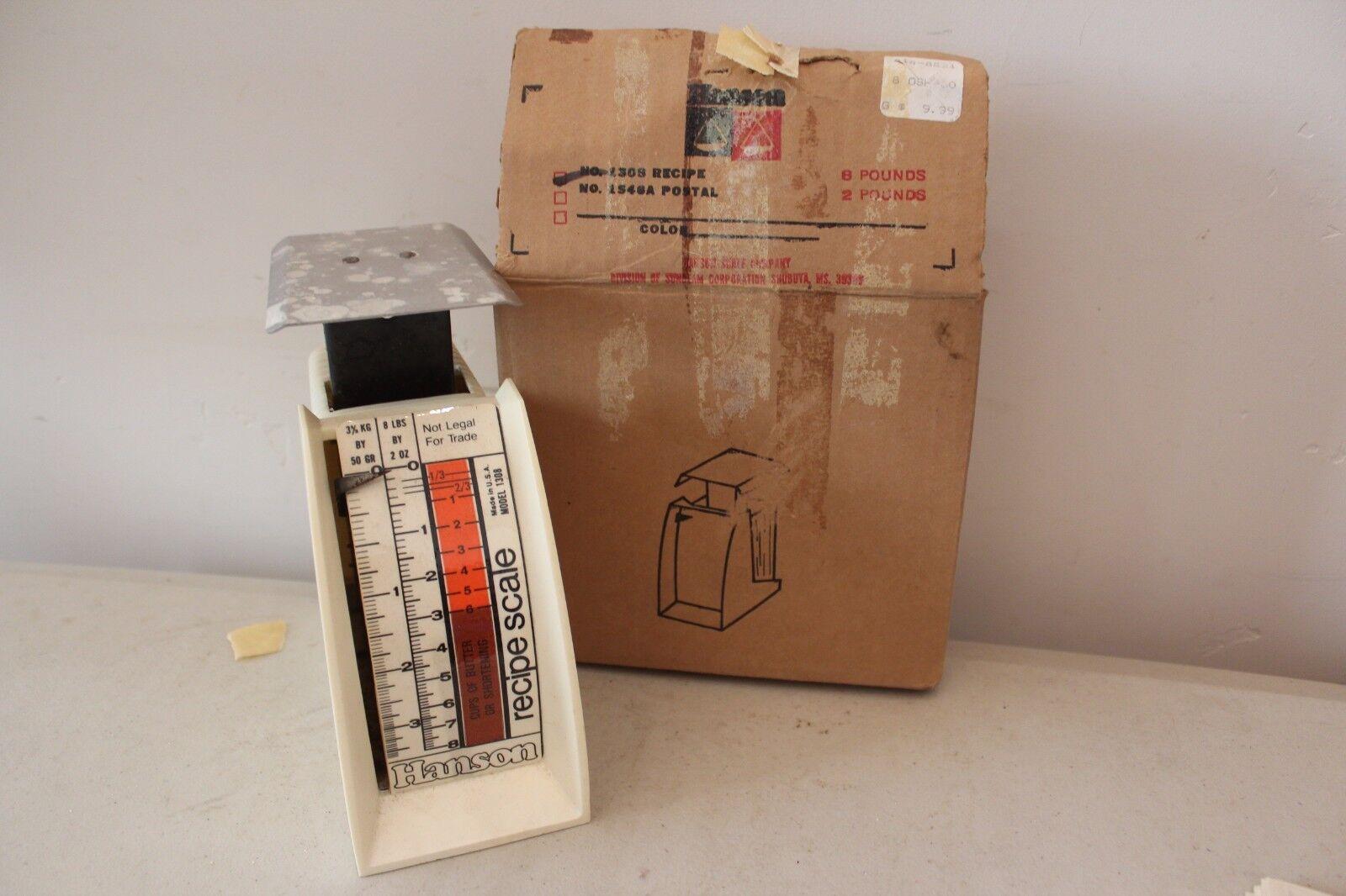 Vintage Hanson 8 lb Recipe Scale Model 1308 1986 L#1548