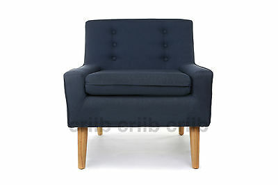 The Oslo in Denim Blue Accent Arm Chair Limited Edition Hand Made Furniture