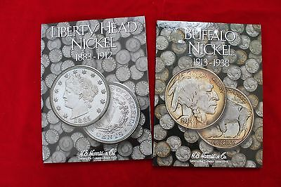 2- H.E.HARRIS COIN FOLDERS, LIBERTY NICKEL AND BUFFALO NICKEL FOLDERS, BRAND NEW