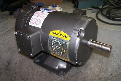 Baldor 1 Hp Electric Ac Motor 208-230460 Vac 3 Phase 1725 Rpm 143t Frame M3546t