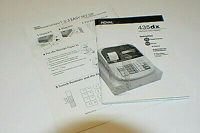 Royal 435dx Electronic Cash Register Manual And Easy Start Guide C1