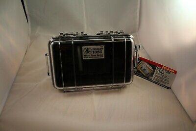 Pelican 1050 Micro Series Case Watertight 1050-025-100 Black Clear New  Pelican Black Micro Case