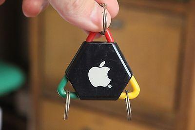 Rare Apple Computer Key chain Red/Green/Yellow Original Promo Novelty Macintosh