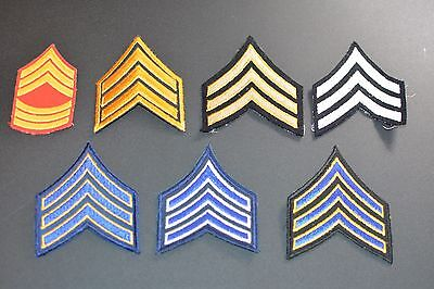 Sergeant Rank Chevron Sew-On Patches Military Uniform Shoulder Insignia (Chevron Military Uniform Patch)