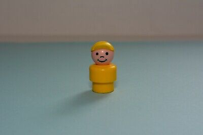 Vintage Fisher Price Little People WHOOPS Boy Yellow Body Yellow Cap