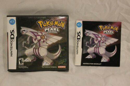 Nintendo DS 2007 Pokemon Pearl Version CASE & BOOKLET ONLY No Game, Authentic