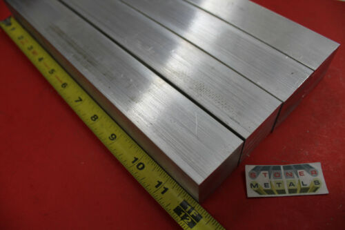 """4 Pieces 1-1/2"""" X 1-1/2"""" ALUMINUM SQUARE 6061 BAR 12"""" long T6511 Extruded Solid"""