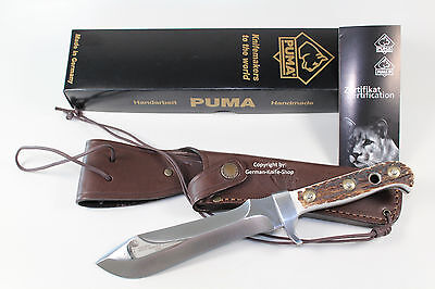 NEW GERMAN PUMA WHITE HUNTER COLLECTORS HUNTING KNIFE W/ 440A Stainless Steel !!
