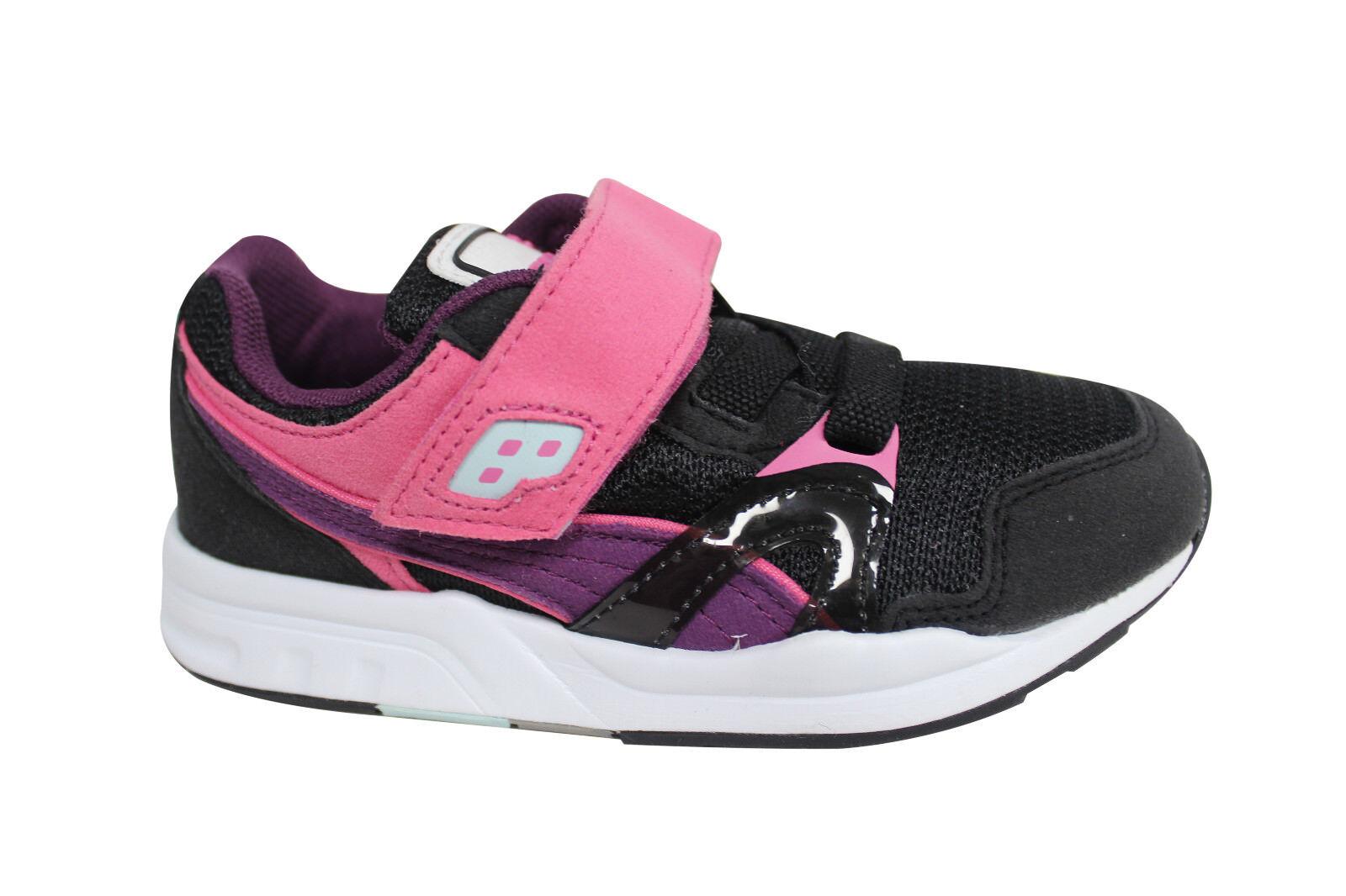 ae30218d8d0b Puma Trinomic XT 1 Plus V Kids Trainers Shoes Black Pink 359454 03 ...