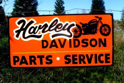 Hand Painted HARLEY DAVIDSON Motorcycle Sign Garage Shop Parts Service Man Cave